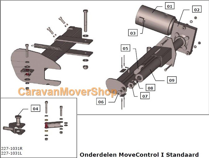 mover/reich-standaard-I-exploded-view